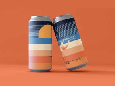 Hazy IPA Packaging sunrise beer can beer art brewing graphic design illustration illustrator outdoors alcohol brewery packaging beer packaging beer gradient colorful tycho sunset ipa hazy reubens