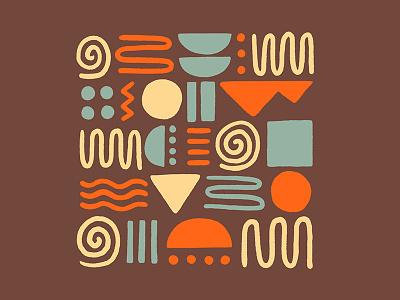 Patterns are fun! desert circle color southwestern southwest pattern design shapes block squiggle pattern procreate colorful design graphic design illustration