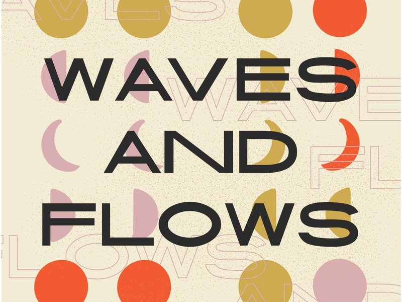 Ride the Wave quote truth neutral texture grain shapes stars astrology horoscope moon lettering hand lettering typography design wave