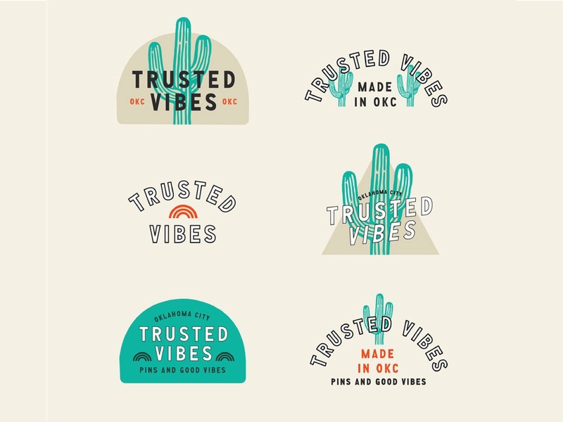 Trusted Vibes Branding branding concept typography company branding company cactus cacti illustration branding