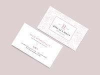 Rose aux joues - Business cards