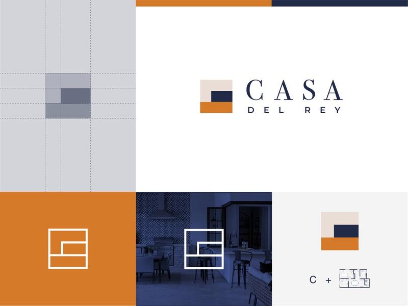 CASA Del Rey | Luxury Home Builders | Logo logomark luxury branding minimal logo design minimal logo minimmal casa logo home builder home builders luxury logo design luxury logo luxury home builder logo