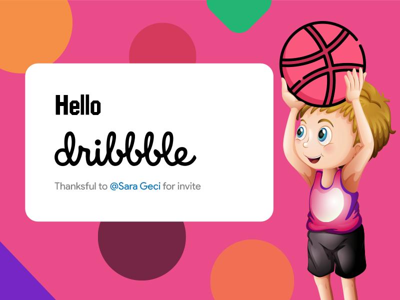 Hello Dribbblers! hello dribbble first shot sadegh eidi sara geci invite dribbble hello