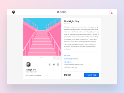 Product View welcome first dribbble white ui slider social network web sadegh-eidi details design description minimal