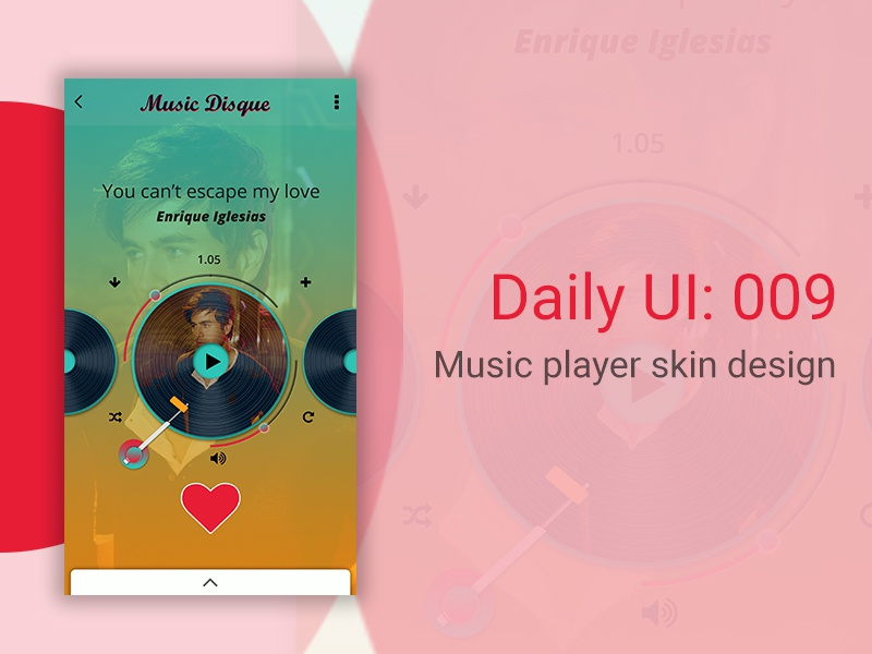 Music player skin design by Garvit Chauhan on Dribbble
