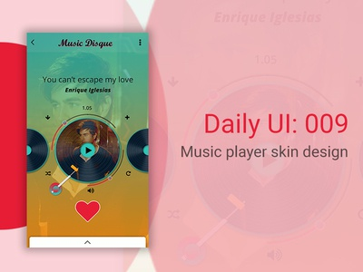 Music player skin design