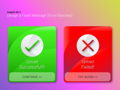 DailyUI #011: Create a Flash Message