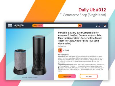 DailyUI: 012 – E-Commerce Shop