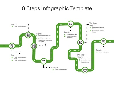 8 Steps Infographic Template