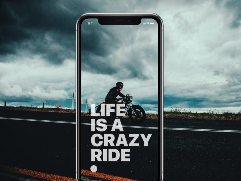 App Concept for bikers uxdesign uxdesignmastery designing typography designer sketchapp product design uxdesigner graphicdesign ux creative app design