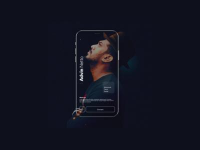 Profile page concept for a social app