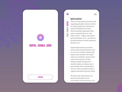 Reading app concept