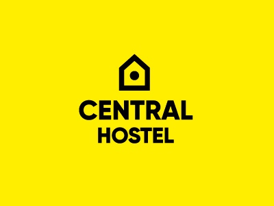 Central Hostel marks symbol logos logo center house hostel