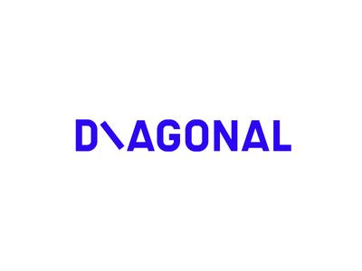 Diagonal symbol design brand art studio diagonal symbol logo