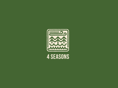 4 seasons illustration style idea design concept brand art logos symbol logo
