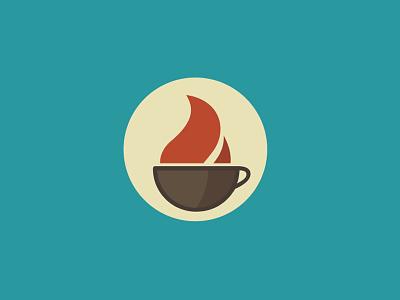Coffee Cup Logo illustrator logo vector coffee cup roaster minimal geometric flame mug icon