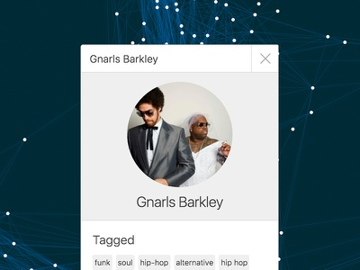 Graph Network UI white gnarls barkley clean ui