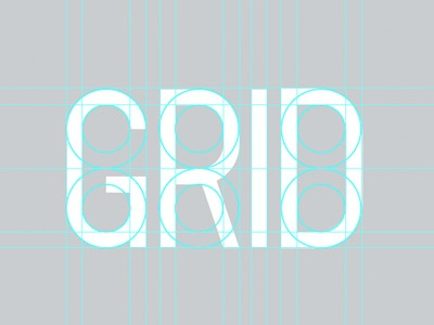 Unibloq grid typography minimal modular alphabet sans-serif rational illustrator pathfinder type design custom type