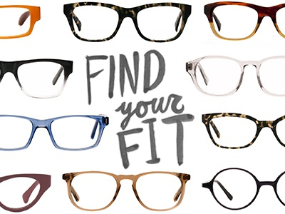 Find Your Fit ink typography type hand-drawn script glasses custom typography