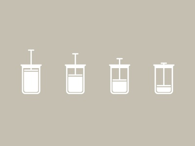 French Press coffee icons vector illustrator french press