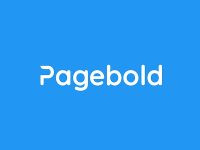 PageBold logo blue logo logo mark company brand asset branding project landing page builder color typography logotype identity idea branding logo