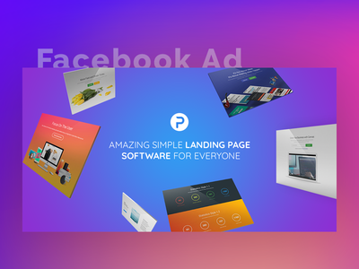 Facebook Ad - Pagebold campaign promotion colorful banner block content gradient social media mockup advertising banner marketing ads facebook ad