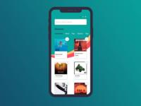Ecommerce website - Home mobile