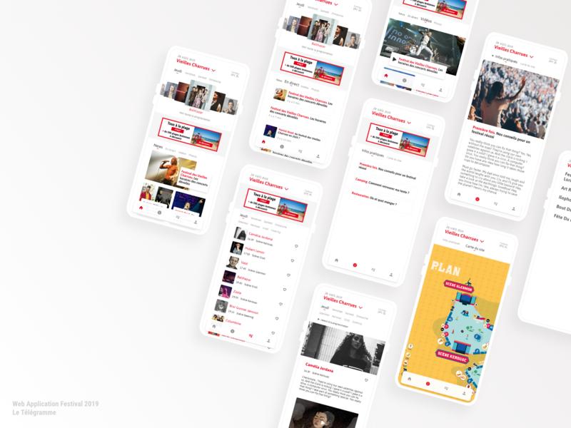 Web Application Festivals 2019 festival app festivals web app design web app app design app ux web design web ui design iphone ui design