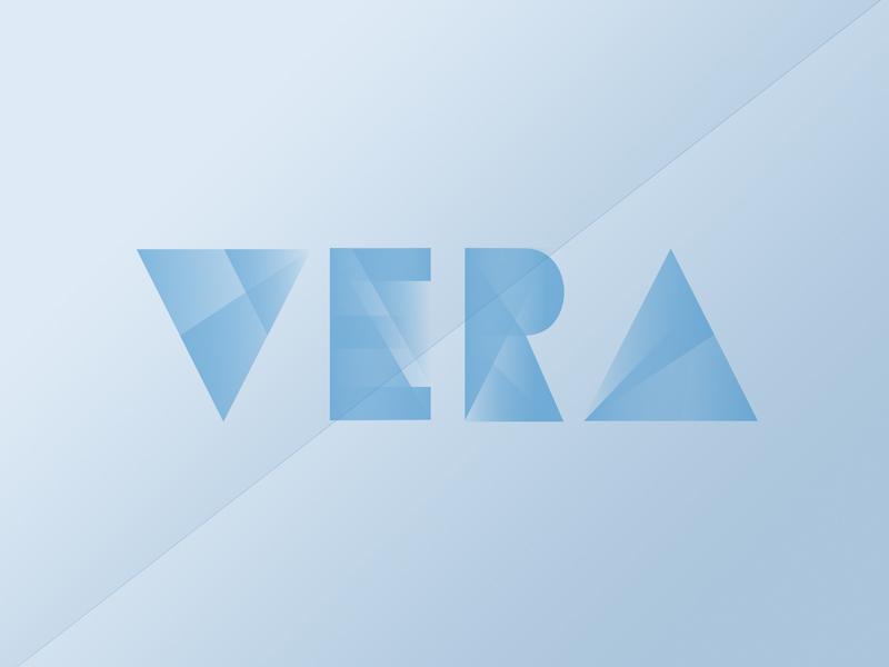Vera  gradient design graphicdesign vera marketing print type typography