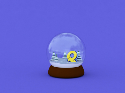 Happy New Year! snowglobe after effects animation cinema4d
