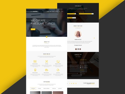 Project Mastery Landing Page agency website ui design web page landing