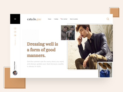 Cata.lo.gue Fashion Website Exploration 1.0 syahidina alif minimal style fashion app clean ui ui design landing page adobe xd user interface design user interface fashion website minimalist design web design