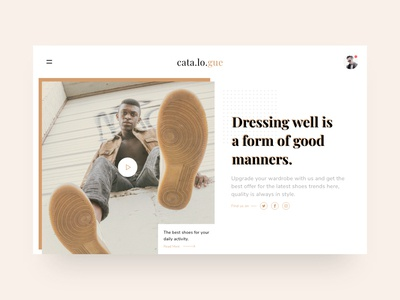 Cata.lo.gue Fashion Website Exploration 2.0 syahidina alif minimal style fashion app clean ui ui design landing page adobe xd user interface design user interface fashion website minimalist design web design
