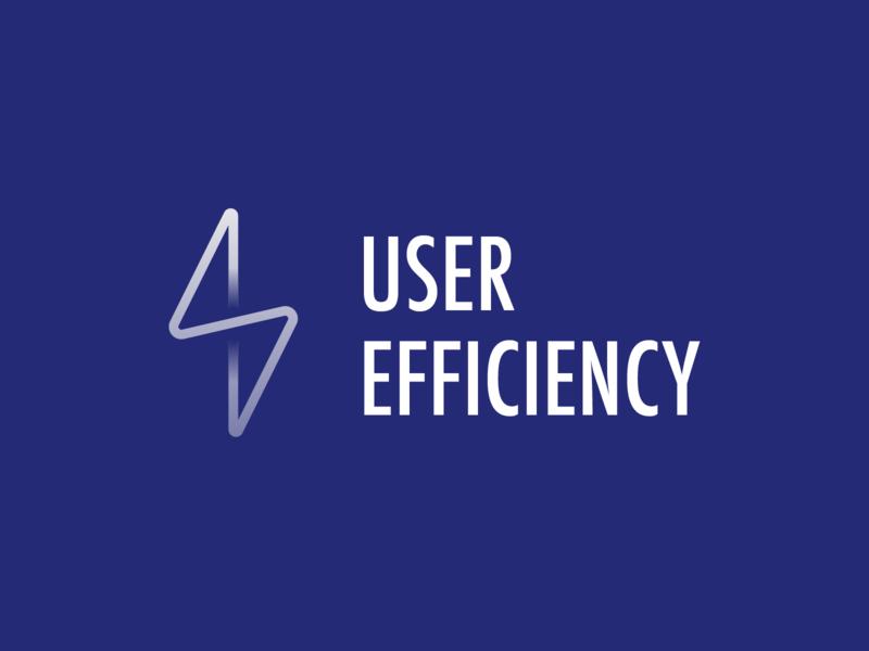 User efficiency - Logo 1 Dark user lighting efficiency web ux ui logo branding vector illustrator design