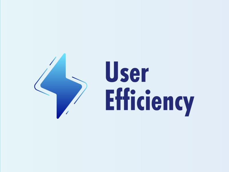 User efficiency - Logo 3 efficiency user lightning illustration ux ui client logo branding vector illustrator design