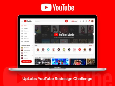 YouTube Homepage Redesign Challenge