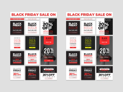 Black Friday Sale On Banners Set