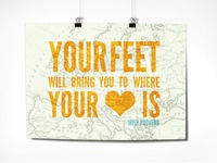 Chronic Positivity: Your feet will bring you...