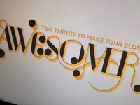 10 things to make your blog awesomer power point slide