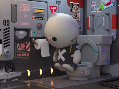 PAOPAO 3D character animation design c4d character design 3d animation