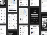 musician community app UI design