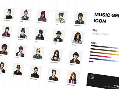 music genre icons ui icon