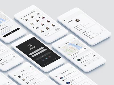 musician community app UI design ui