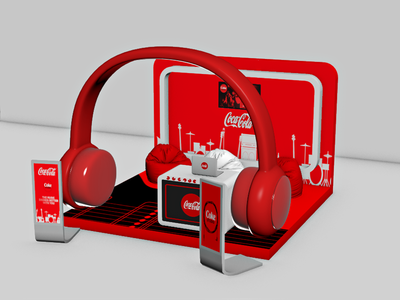 Coca Cola Music - 3D Stand Design Version - 1