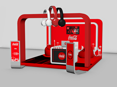 Coca Cola Music - 3D Stand Design Version - 2