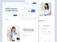Pay Website designer branding saas payment testimonials landing pages web app dashboard business fintech webdesign landing page website web clean uxdesign uidesign ux ui design