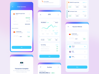 Robo Investment - UI Kit uikit ios mobile app bank finance stock investment money fintech ui kit minimal designer app branding clean uxdesign uidesign ux ui design