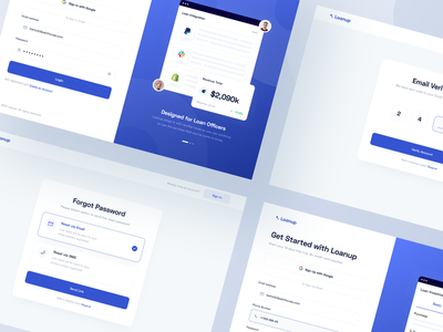 Loanup - Web App input form chart password loan sign in sign up login dashboard web app web design website web designer clean uxdesign uidesign ux ui design