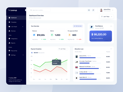 Loanup - Web App platform integration wallet financial finance fintech loans brokers loan dashboard web app web design web website designer clean uxdesign uidesign ux ui design