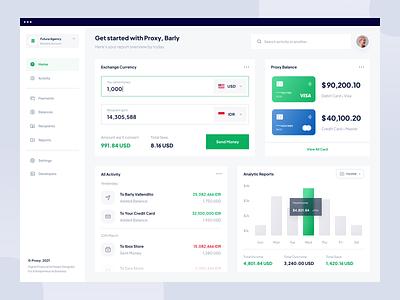 Proxy - Web App card payment wallet bank money fintech financial finance web app dashboard app web website designer clean uxdesign uidesign ux ui design